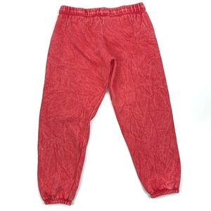 Free People Red Wash Jogger Sweatpants